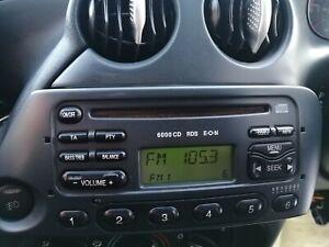 FORD KA STREETKA 6000CD CAR RADIO STEREO PLAYER WITH CODE