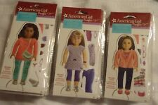 American Girl Crafts Paper Doll Stylist Set 3 with Reusable Cling Clothing Nip
