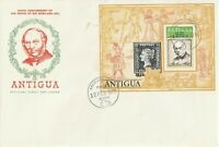 BARBUDA 1979 ROWLAND HILL CENTENARY MINIATURE SHEET ON FIRST DAY COVER