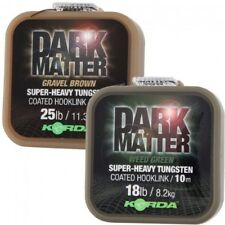 New Korda Dark Matter Super-Heavy Tungsten Coated Hooklink 25lb - Gravel Brown