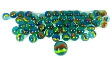 Lot of 50 Clear Cat's Eye Marbles with Shooter