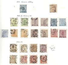Sweden stamps 1855 YV 2+4+6-11+12+14+15  SHADES  CANC  Cat Value $2900