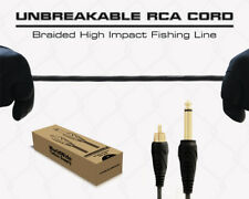 Unbreakable RCA Cord 6.5 Feet Plug Connection for Tattoo Power Supply Machine
