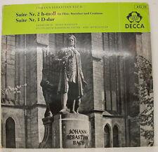 "BACH SUITE NR. 2 & 3 ANDRE PEPIN DORIS ROSSIAUD KARL MALLET 12"" LP (f653)"