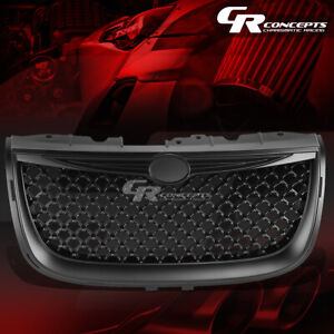 BLACK POWDERCOAT DIAMOND MESH FRONT BUMPER GRILLE/GRILL FOR 99-04 CHRYSLER 300M