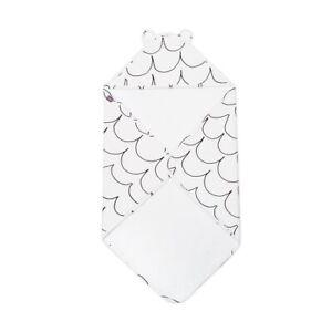 Snuz Baby Hooded Towel - Wave Mono