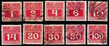 1910-13 Austria #J34-40 & J41-44 Postage Due - Used - Vf - $17.55 (Esp#2244)