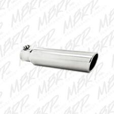 MBRP T5142 304 SS Round Angle Cut Weld-On Mirror Polished Exhaust Tip