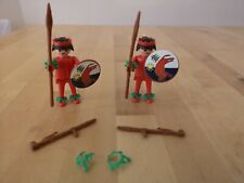 Vintage Playmobil 1970s Tribe Hunter Spear Islanders With Accessories