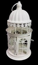 Lanterna Metallo Bianca Portacandela Portalumini Decorazione Shabby Chic Alt dfh
