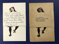 2 April fools Novelty Postcards. Add-On Flap Hides Message. For Collectors. Nice