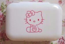 Kawaii Cute Double Layers Hello Kitty Pill Box Medication Box Organizer White
