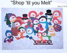 """Lavender Rabbit Snowman  """"Shop Til You Melt"""" Quilt Pattern 1999"""