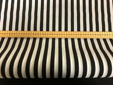 POLY COTTON BLACK  AND WHITE STRIPE FABRIC  2 MTS