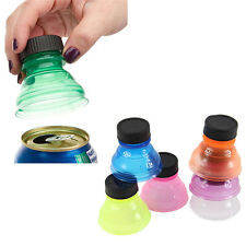 6 Pcs Plastic Drinking Bottle Caps Can Convert Soda Savers Toppers Reusable Tops