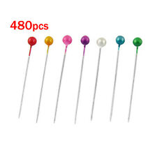 480 Pcs Assorted Color Length Ball Head Straight Pins Decorations T1