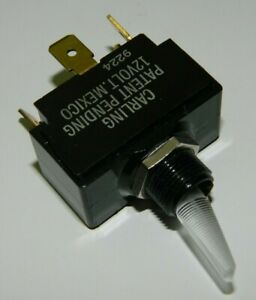 NEW CARLING LT-1511-115-012 Toggle Switch SPST LIGHTED 15A @ 125VAC 10A @ 250VAC