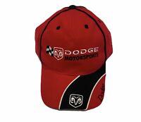 DODGE MOTORSPORTS NASCAR RACING, RAM, ADJ. HAT CAP, RED, NEW