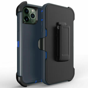 iPhone 11 Heavy Duty Defender Armor Hybrid Case Cover With Clip