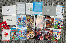 Huge 31 Wii Video Game Case and Manual Lot No Games Paper Mario Sonic Star Wars