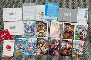 HUGE 20 Wii Video Game Case and Manual Lot NO GAMES PAPER MARIO Sonic Star Wars