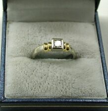 Princess 18 Carat Multi-Tone Gold Fine Diamond Rings
