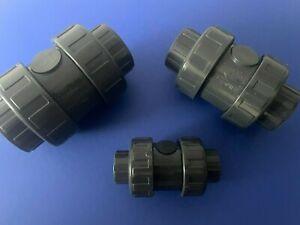 Rückschlagventil Klebe Fitting PVC in 16 20 25 32 40 50 63 75 90 110mm 10bar