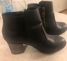 Women's bootie Rattle001 Size 8 1/2 Black