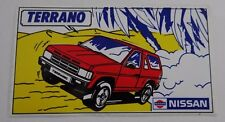 Aufkleber NISSAN TERRANO I 4x4 Allrad 80er SUV Sticker Youngtimer