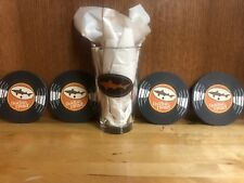 *NEW* Limited Edition Dogfish Head Beer Glass - Record Store Day w/ 4 Coasters