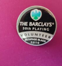 2016 The Barclays 50 Golf Bethpage Black NY Golf Course Volunteer pin lapel