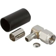 SMA R/A (M) Coax Connector Components for RG-55, RG-142, RG-223, RG-400 Cables
