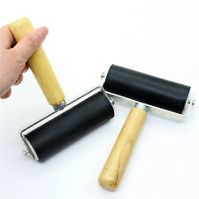 10cm Heavy Duty Hard Rubber Roller Printing Inks Lino Brayer Art Craft Tools