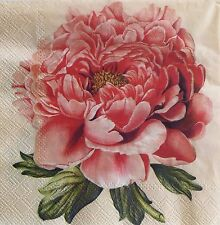 2 single paper Napkins for Decoupage Crats or Collection Shabby Flowers Peony