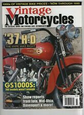 Vintage Motorcycles Mag '37 H-D  GS1000S Fall 2006 052220nonrh
