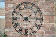 88 Cm Negro De Hierro Extra Grande De Metal Números Romanos Esqueleto Reloj Pared Estilo