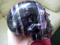 Crystal Skull large rainbow fluorite EBF 3