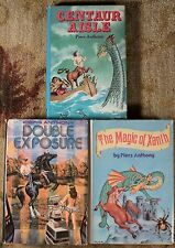 Piers Anthony Lot of 3 Books, Centaur Island, Magic of Xanth & Double Exposure!