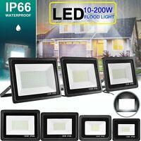 20xBright 10W-200W LED Flood Light Outdoor Garden Yard Spotlight Lamp Cool White