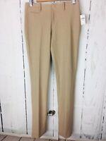NWT ($59) GAP TRUE STRAIGHT TAN BROWN DRESS PANTS SIZE 0