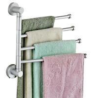Stainless Steel Towel Bar Rotating Towel Rack Bathroom Kitchen Towel Storage New