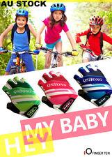 Kids Cycling Padded Gloves Boys Girls Sport Mitts Bike Bicycle Skate Half Finger