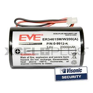 High Capacity 20000mA Visonic Powermax Siren Battery MCS-730, 0-9912-K, 0-9913-J