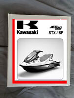 2012 Kawasaki STX-15F JT-1500 jet ski Service repair workshop manual binder