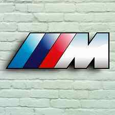 BMW M POWER LOGO LARGE 2FT GARAGE WALL SIGN SPORT BADGE X5 X6 M1 M3 M4 M5 M6