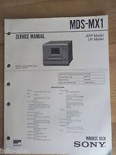 Schema SONY - Service Manual Minidisc Deck MDS-MX1 MDSMX1