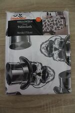 NEW Celebrate Halloween Vinyl Tablecloth Skeletons 70 in. Round