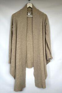 *GORGEOUS* KEW Heavy Knit Long Open Front Waterfall Cardigan Small UK10  *VGC*