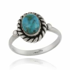 Turquoise Solitaire Sterling Silver Fine Rings