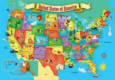 USA Map 44 Piece Real Wood Jigsaw Puzzle